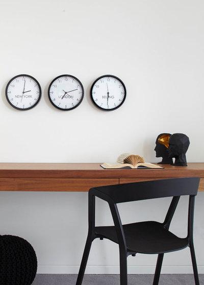 コンテンポラリー ホームオフィス・仕事部屋 by D'Cruz Design Group Sydney Interior Designers