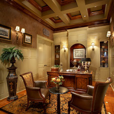 Traditional Home Office by Michelle Miller Design, Inc.