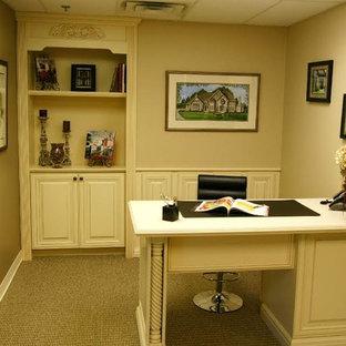 シカゴのトラディショナルスタイルのおしゃれなホームオフィス・仕事部屋の写真