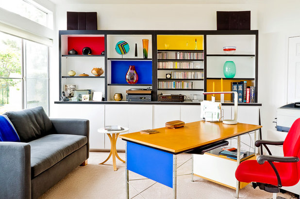 Contemporary Home Office by K. Gennaro Photography