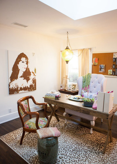 Eclectic Home Office by LoMa Decor