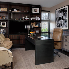 Traditional Home Office by Ashley Campbell Interior Design