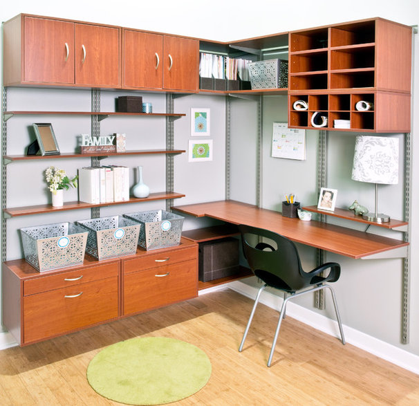 Contemporary Home Office by Organized Living