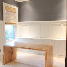 Contemporary Home Office by Hostetler Custom Cabinetry
