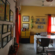 Eclectic Home Office Our Cheerful and Inspiring Studio