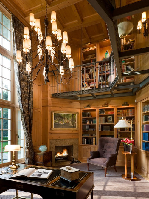 fireplace library ideas traditional home office with a corner fireplace ideas design