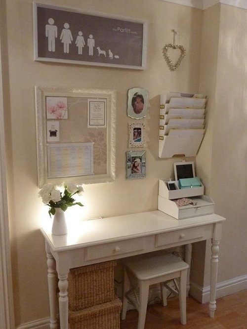 shabby chic style brown home office design ideas. Black Bedroom Furniture Sets. Home Design Ideas