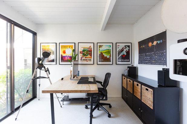 コンテンポラリー ホームオフィス・書斎 by Mackenzie Collier Interiors