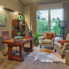 Contemporary Home Office by Axiom Luxury Homes