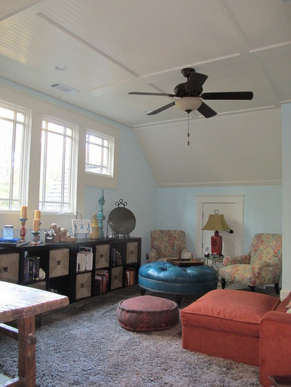 Eclectic Home Office by Custom Dwellings