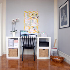 eclectic home office by Jessica Uppal