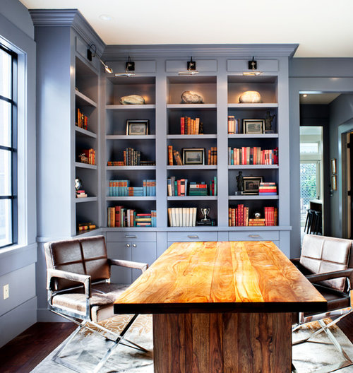 Best Transitional Home Office Design Ideas & Remodel