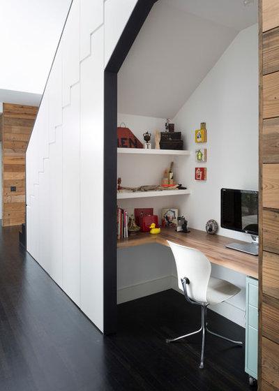 Contemporain Bureau à domicile by Hugh Jefferson Randolph Architects