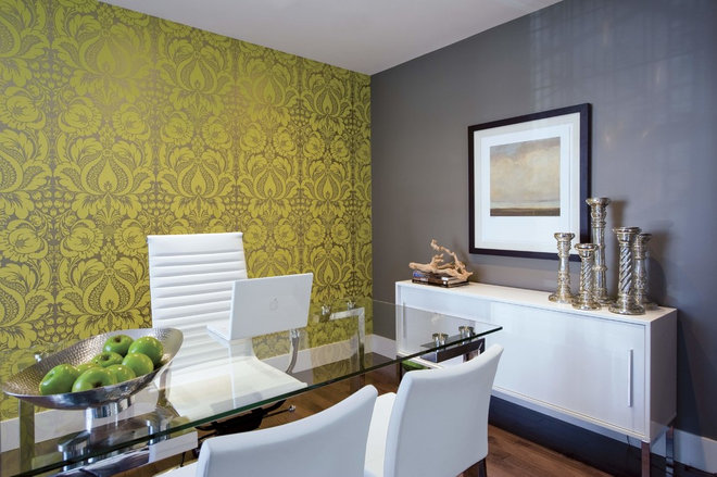 Eclectic Home Office by Alykhan Velji Design