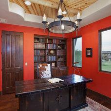 Eclectic Home Office by Bella Villa Design Studio