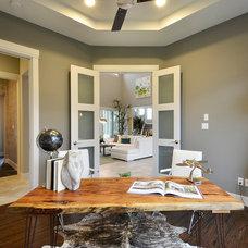 Contemporary Home Office by Pillar Custom Homes, Inc.