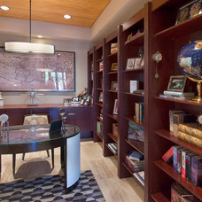 Contemporary Home Office by Sandella Custom Interiors, LLC