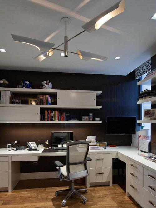 Best Lighting Fixtures Contemporary Home Office Design Ideas