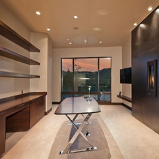 Contemporary Home Office by CD Construction, Inc.