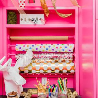 ソルトレイクシティのラスティックスタイルのおしゃれなホームオフィス・仕事部屋の写真