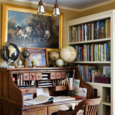 Traditional Home Office by Francis Dzikowski Photography Inc.