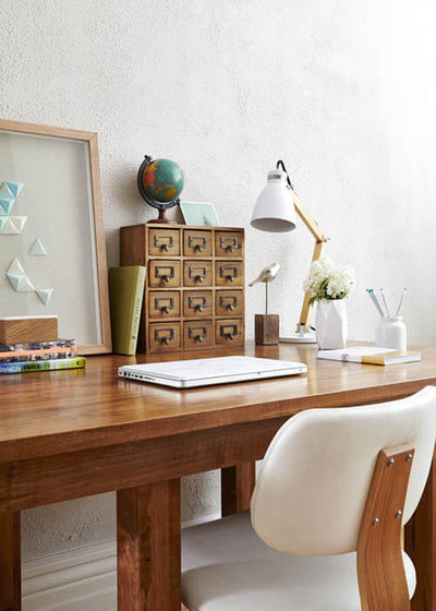 Eclectic Home Office by Toronto Interior Design Group | Yanic Simard