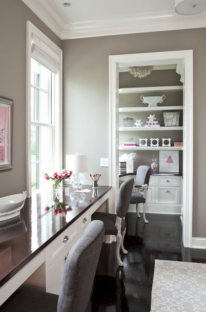 Traditional Home Office by Martha O'Hara Interiors
