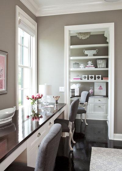 Traditional Home Office by Martha O'Hara Interiors
