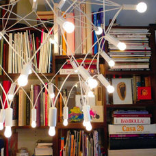 Eclectic Home Office Patrick Townsend Chandelier