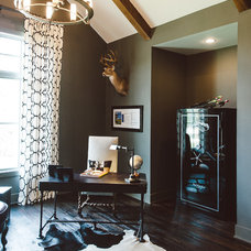 Transitional Home Office by Van Wicklen Design