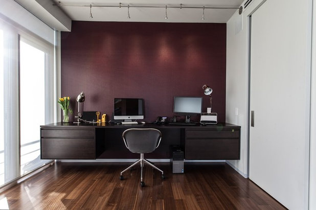 Contemporary Home Office by eMOD Construction Inc.