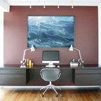 Russian River Studio Contemporary Home Office San