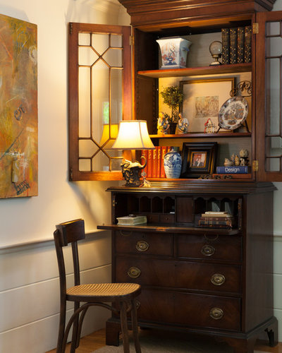 Traditional Home Office by Kim Macumber Interiors