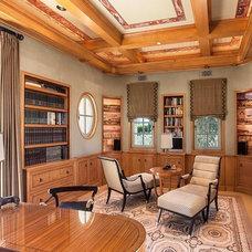 Mediterranean Home Office by David Rance Interiors