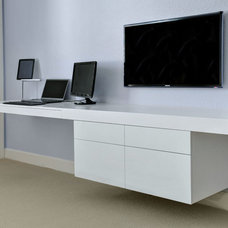 Contemporary Home Office by Grand Woodworking