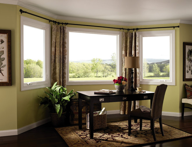 Traditional Home Office by Pella Windows and Doors