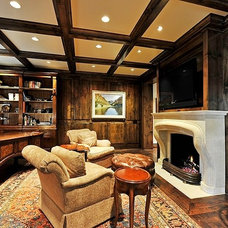 Traditional Home Office by Katz Builders, Inc.