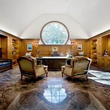 Traditional Home Office by Avanti Marble & Granite Inc.