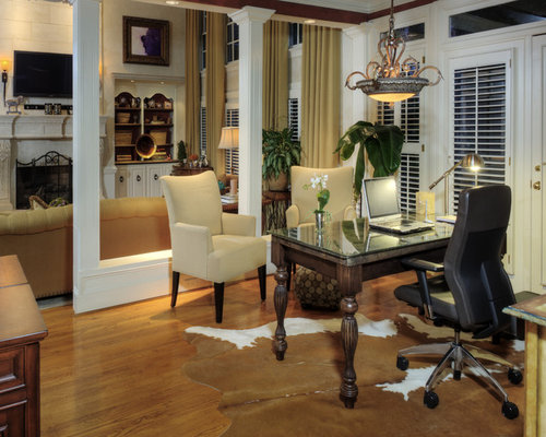 Dining Room Converted Traditional Home Office Idea In Charlotte