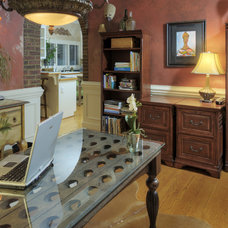 Traditional Home Office by PCL Interiors