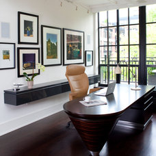 Contemporary Home Office by Design Milieu