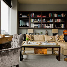 Transitional Home Office by Lovejoy Designs