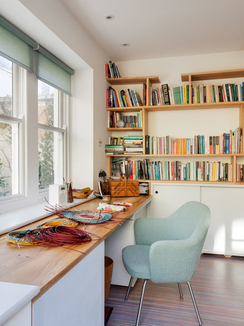 Mint Green Home Office Design Ideas, Remodels & Photos