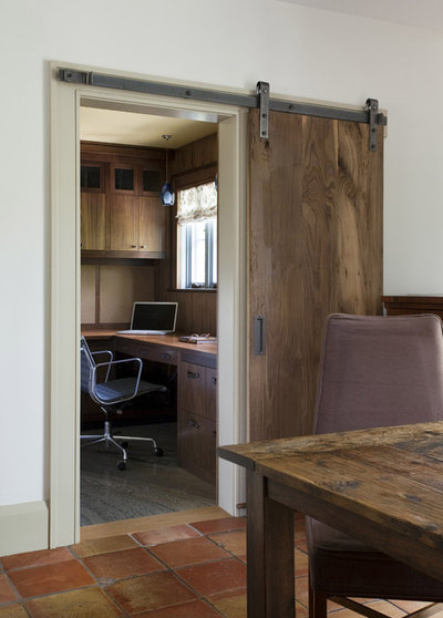 Rustic Home Office by SV Design