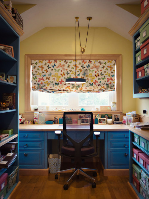 Luxury Eclectic Home Office Design Ideas Renovations Photos