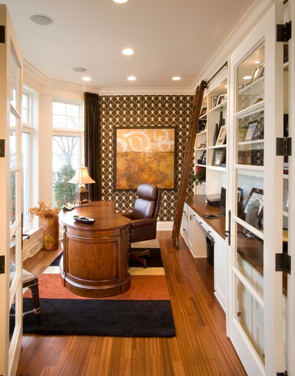 Traditional Home Office by Hickory Hill Homes