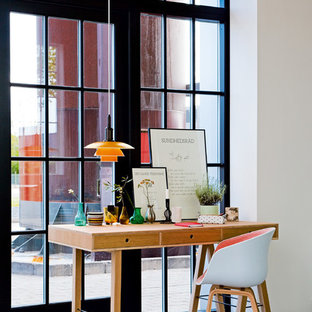 Example of a danish home office design in Miami