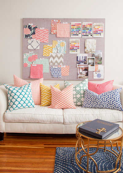 Eclectic Home Office & Library by Caitlin Wilson Design