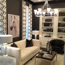 Transitional Home Office by IBB Design Fine Furnishings