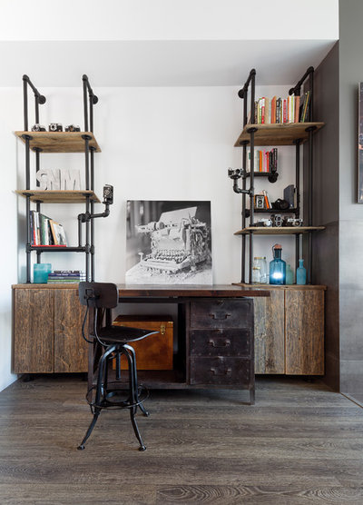 Industrial Home Office by Rad Design Inc